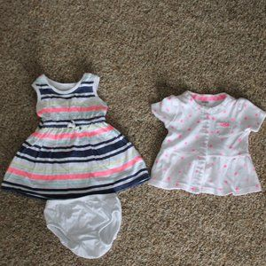 Carter's 6M Dress with Bloomers and Snap up Jacket